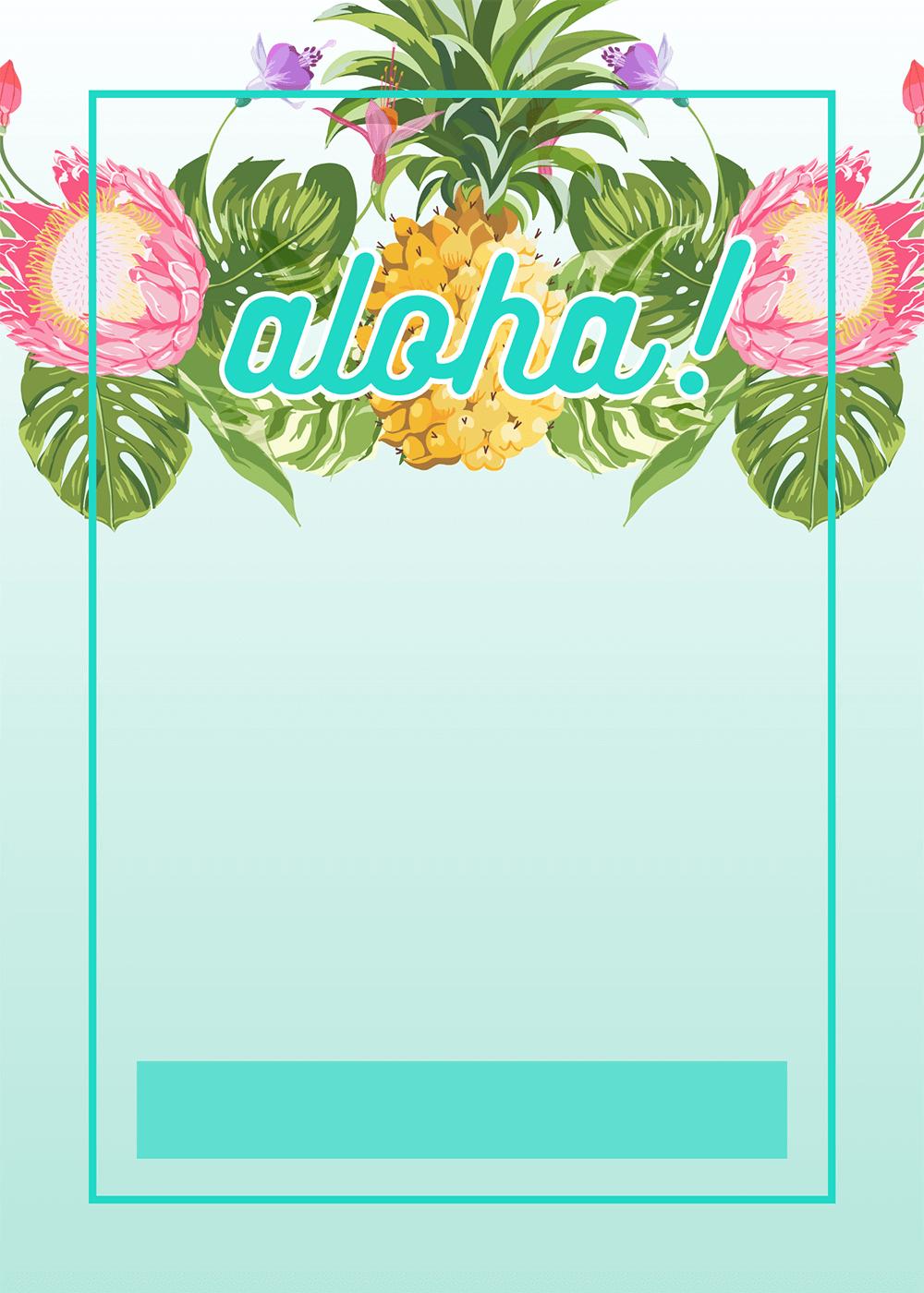 Hawaiian Invitation Template Free