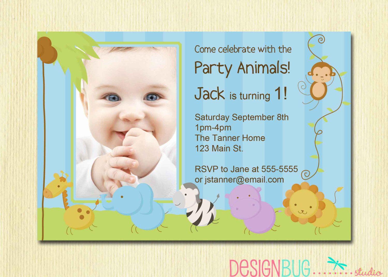 First Birthday Boy Invitation