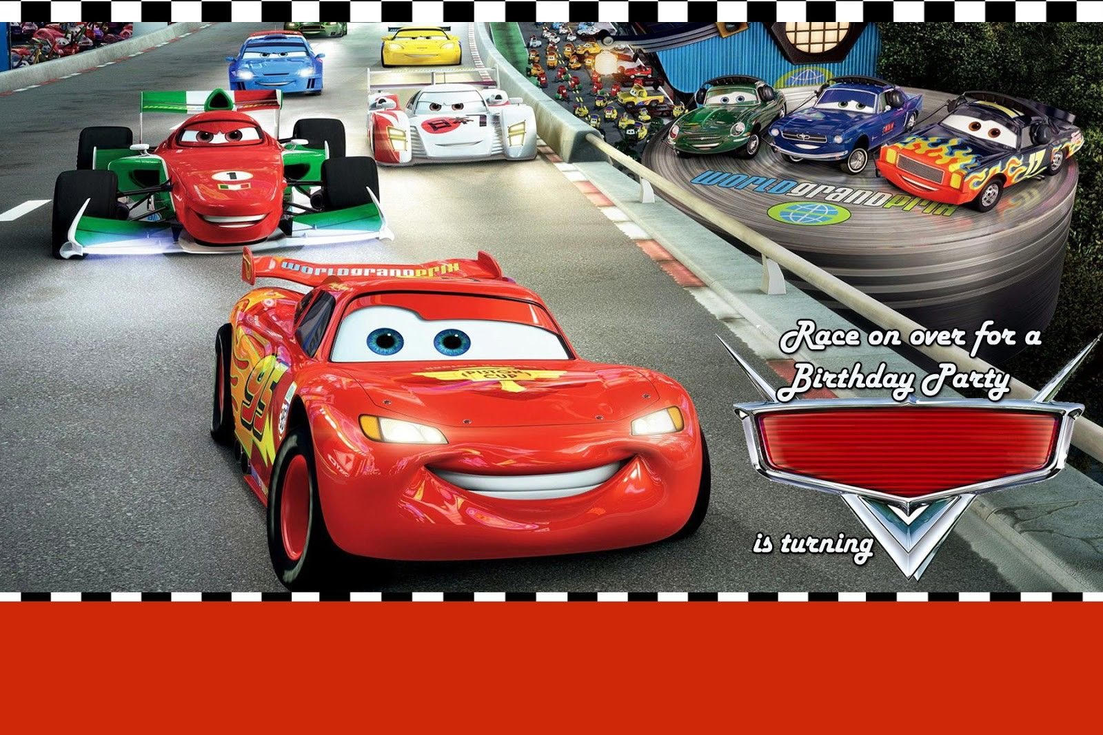 Disney Cars Invitations Templates Free