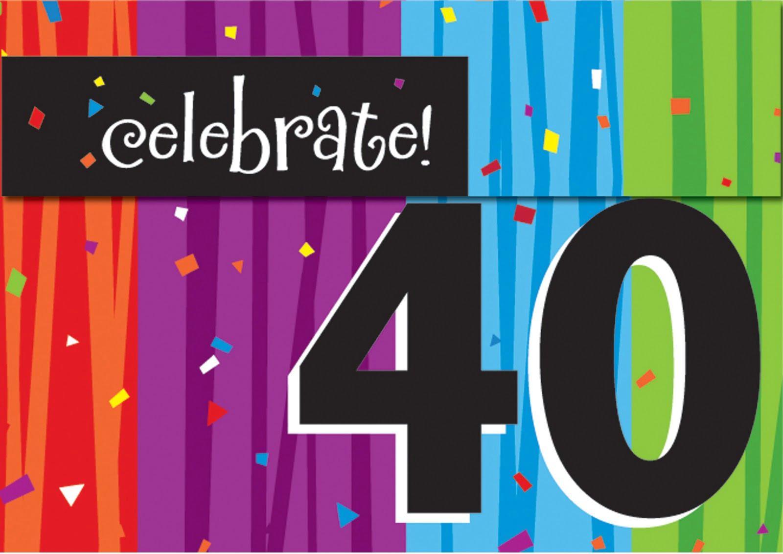40th Birthday Invitations Templates Ideas