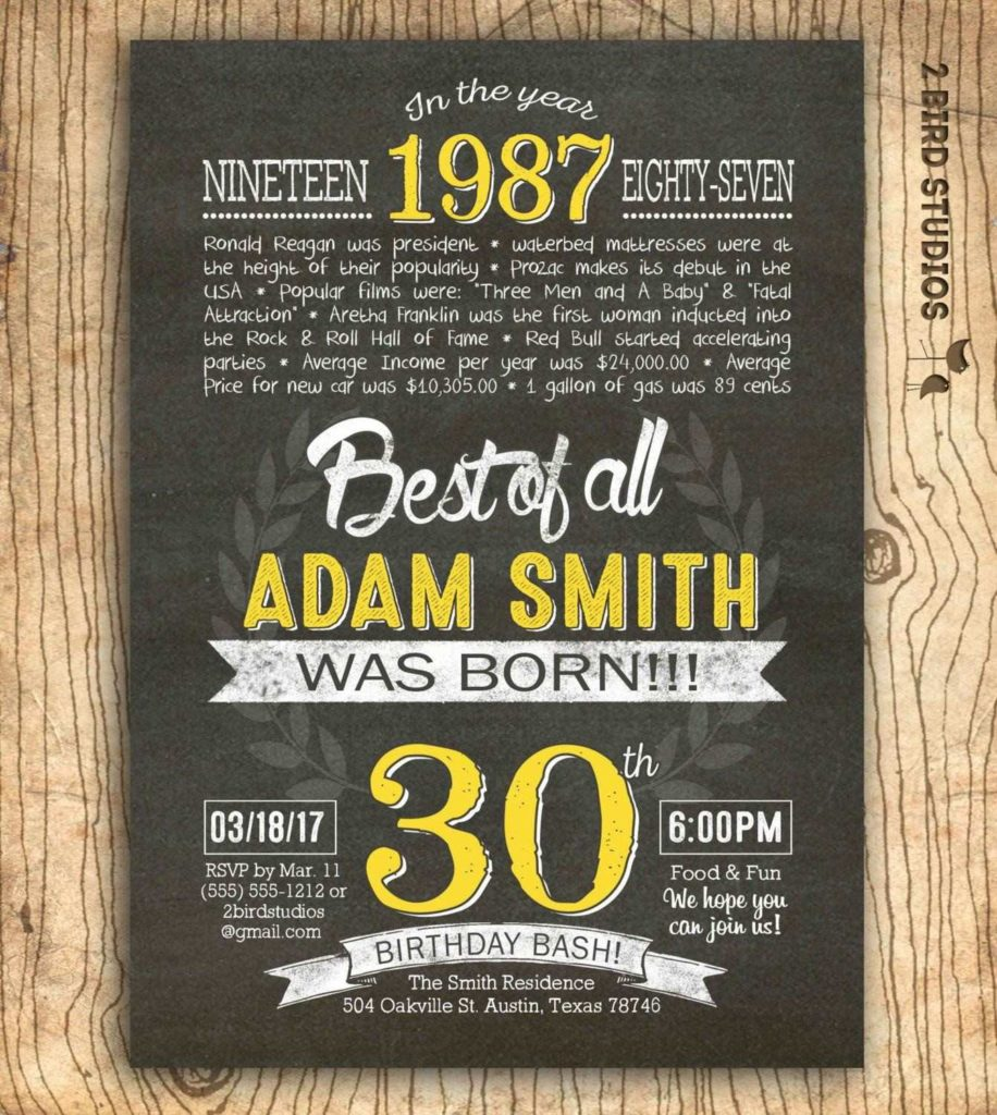 Invitation  40th Birthday Invitations For Him