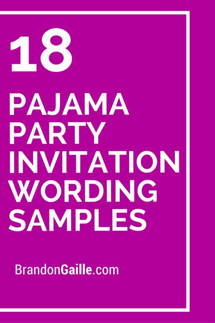18 Pajama Party Invitation Wording Samples