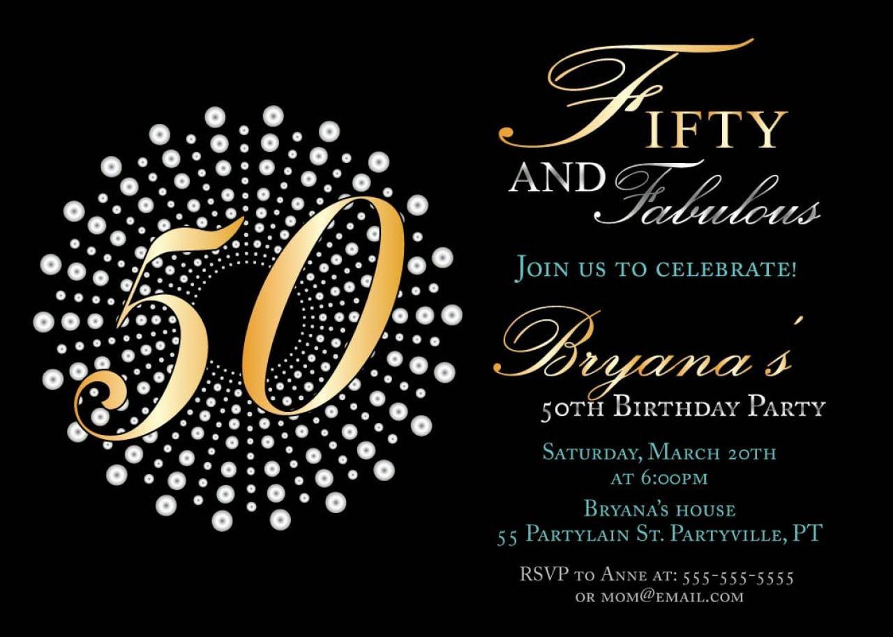 50th Birthday Party Invitations Templates Hola Klonec Co 50th