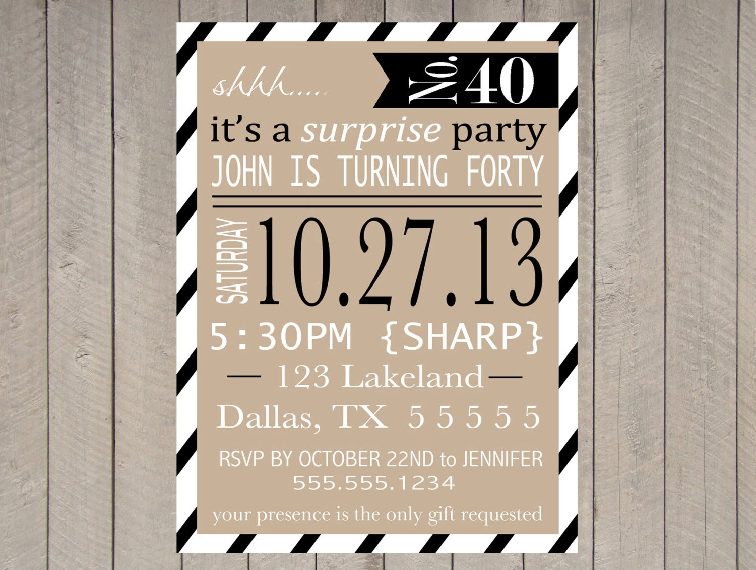 50th Surprise Party Invitations 50th Surprise Party Invitations