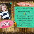 Hawaiian Boy And Girl Birthday Party Invitations