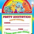 Printable Pokemon Invitations Birthday Party