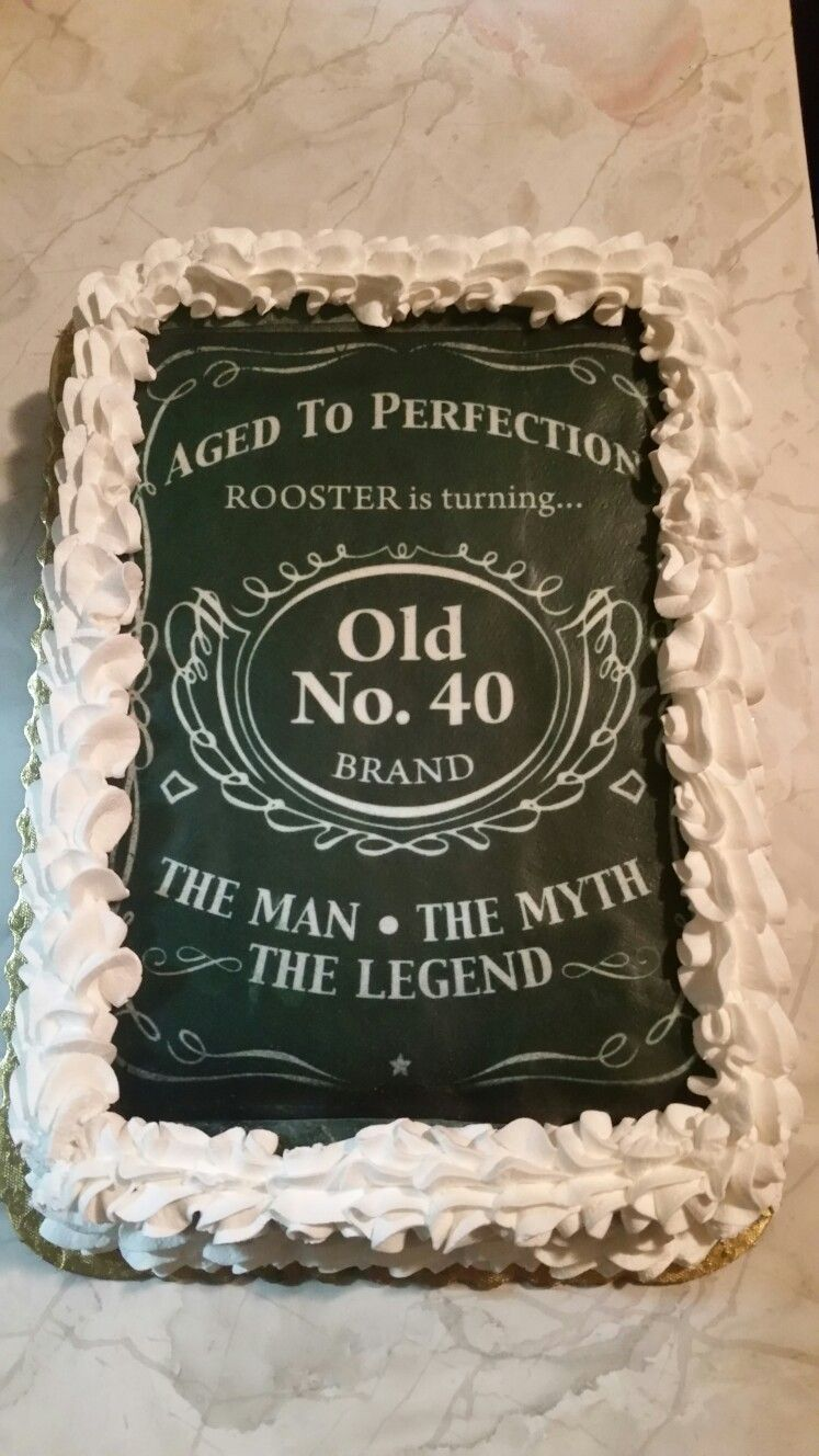 40th Birthday Cakedesigned After Jack Daniels For The Man, The