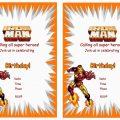 Free Printable Ironman Invitations