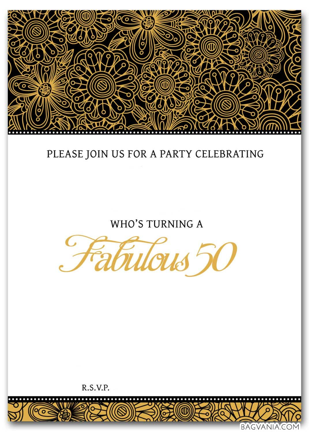 Download Now Free Printable 50th Birthday Invitations