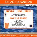 Army Birthday Invitations Printable Free Template