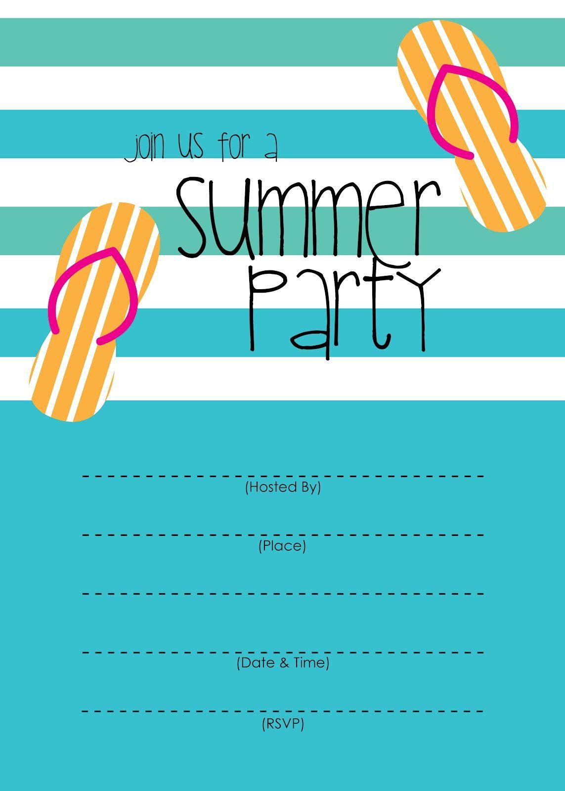 Invitation Ideas  Pool Party Invitation Templates Free Download