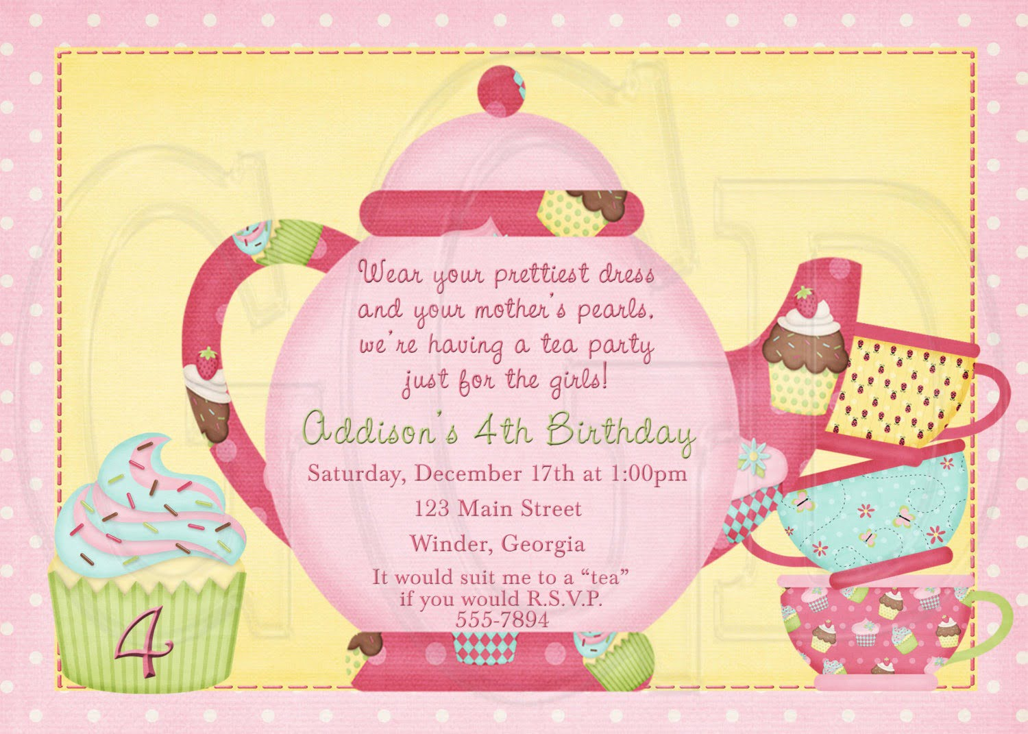 Amazing Tea Party Invitation Wording 65 For Invitation Definition