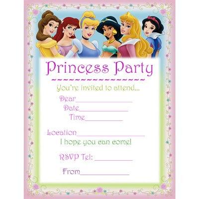 Free Disney Invitation Templates F Cool Disney Princess Birthday