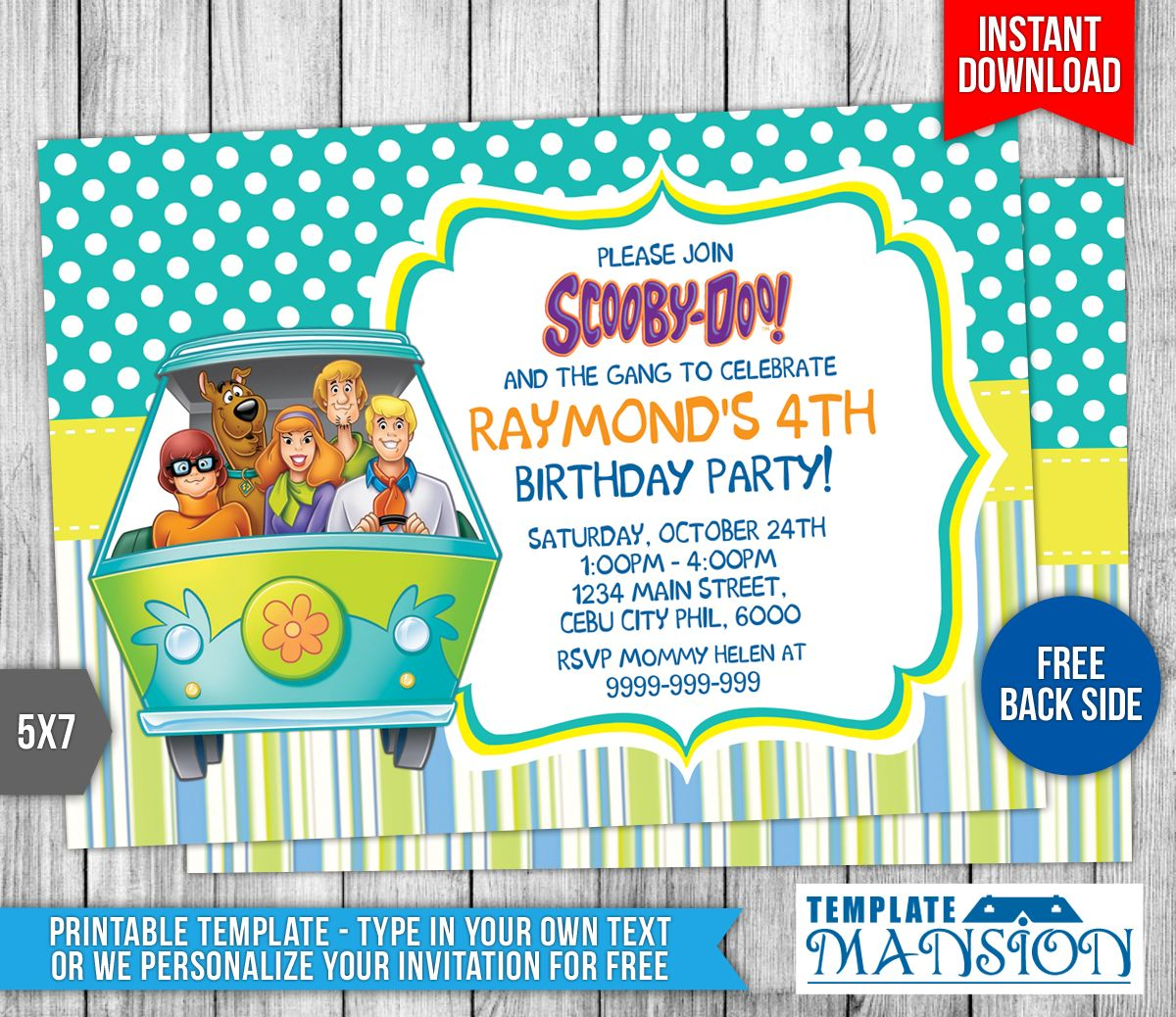 Free Scooby Doo Birthday Invitation