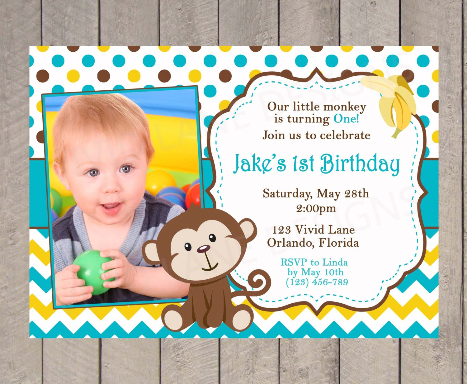 1st Birthday Invitation Matter From Elder Brother To