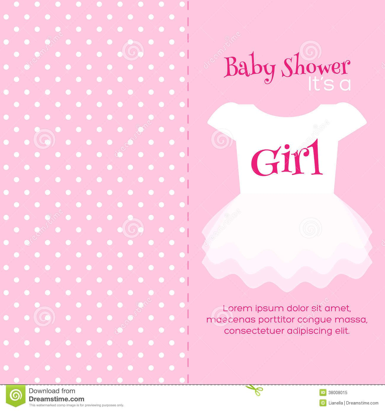 Baby Shower Invitation Template Stock Vector