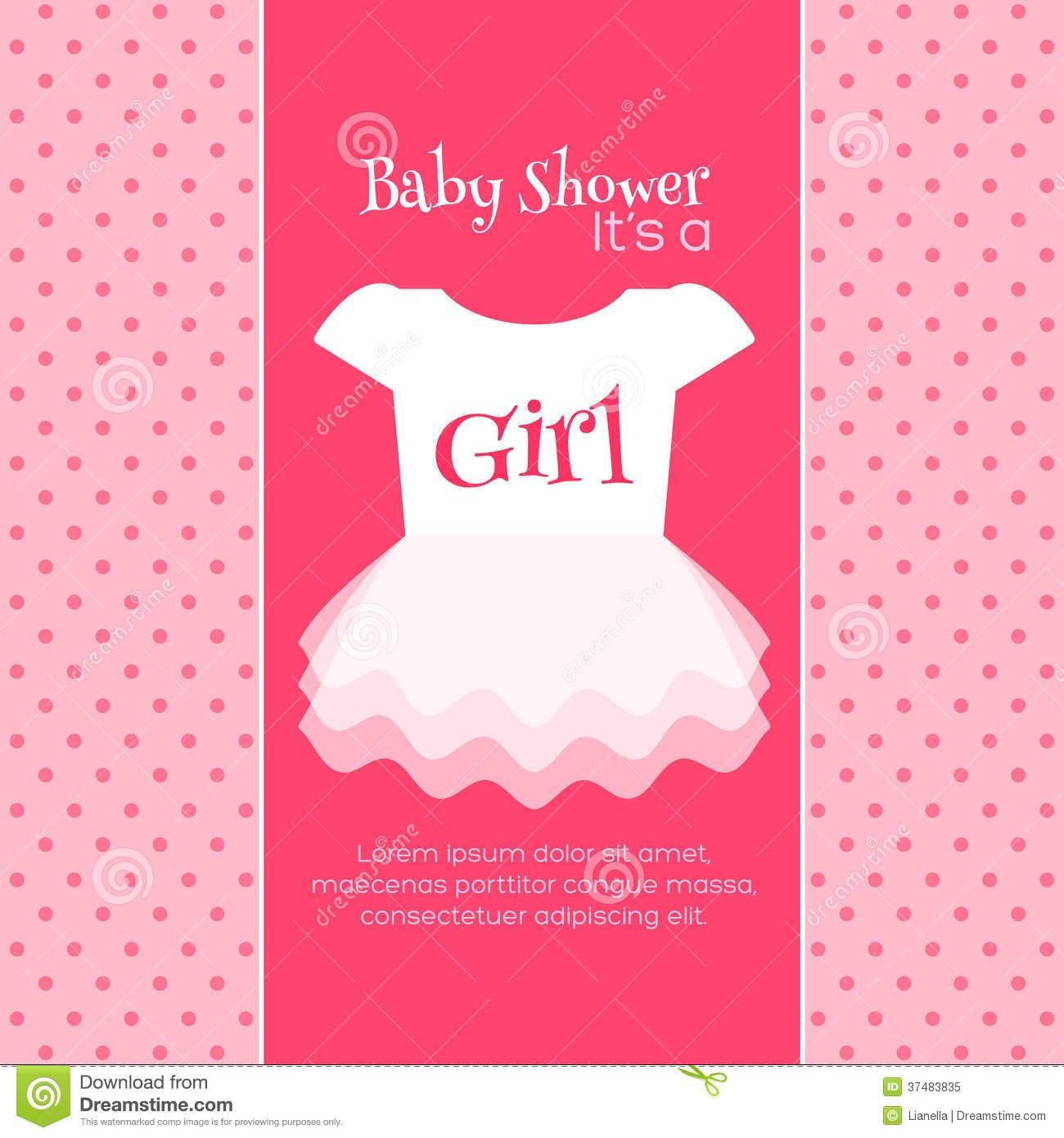 Baby Shower Invitation Template Stock Illustration