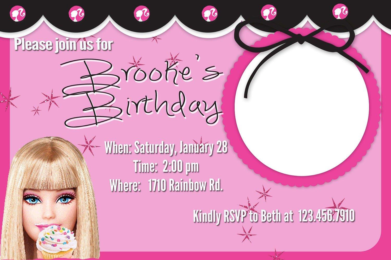 Barbie Birthday Invitations Barbie Birthday Invitations