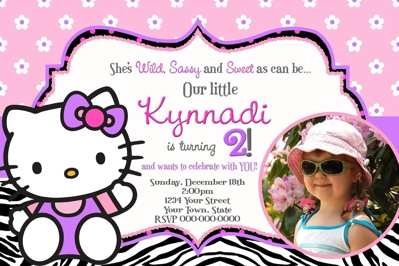Birthday Invitation Card Design For Girls Hello Kitty