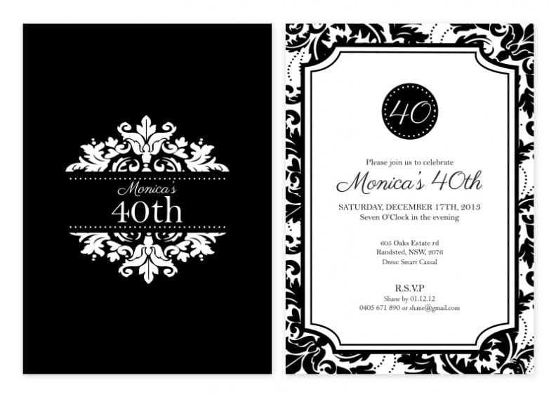 Invitation  White Party Invitations Templates
