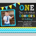 1st Birthday Invitation Boys Template Free