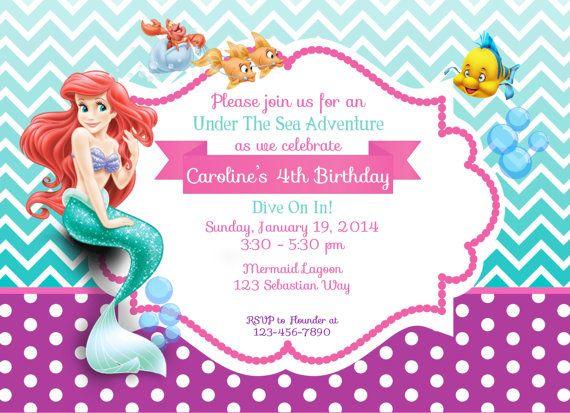 Invitation Ideas  Little Mermaid Birthday Invitations Printable
