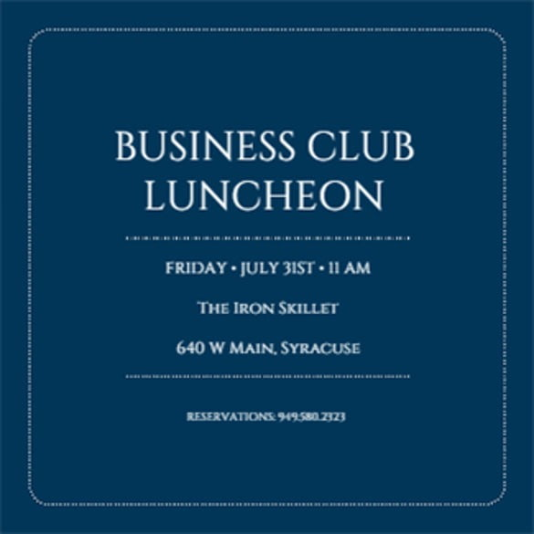 Business Invitation Templates For Word