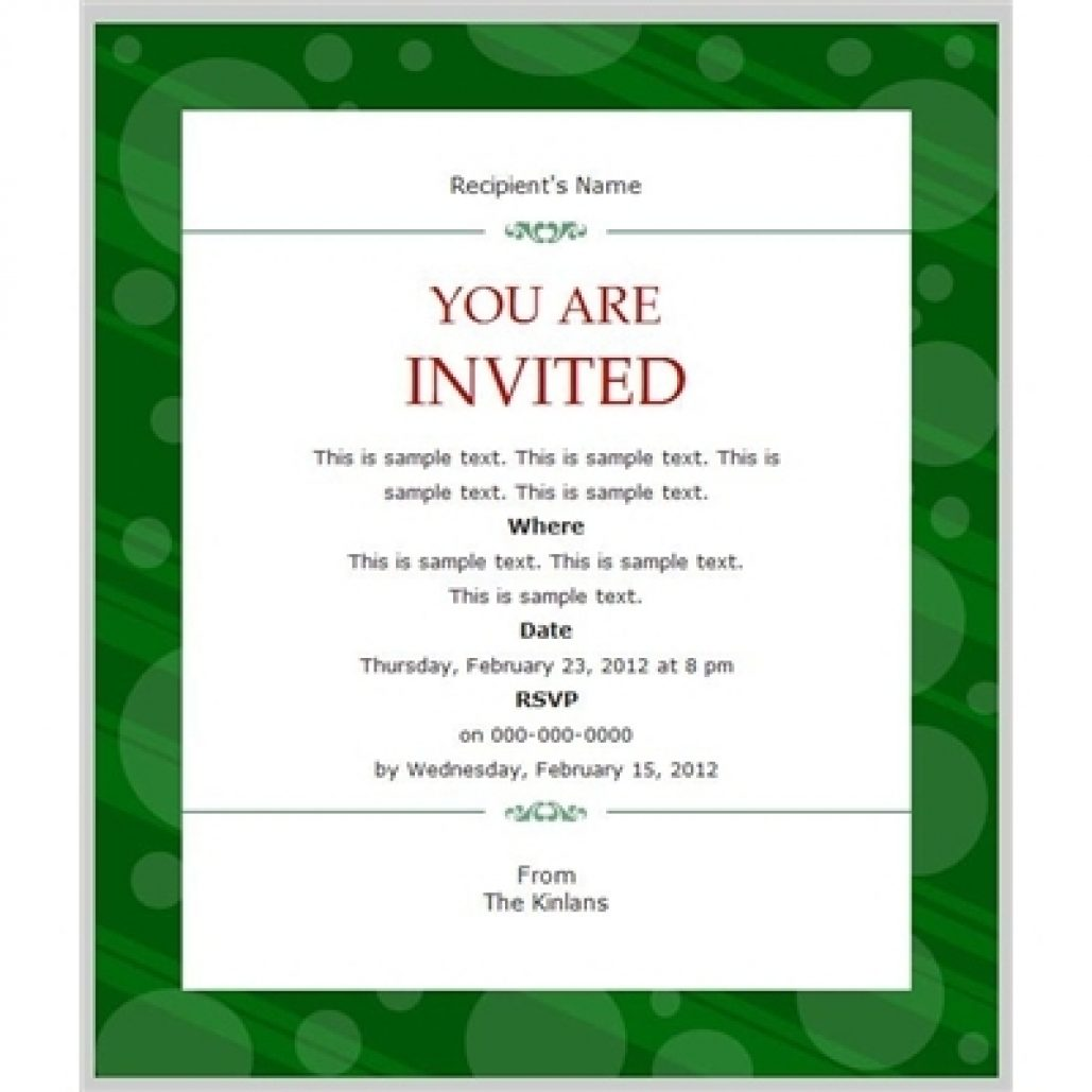 Business Invitation Templates