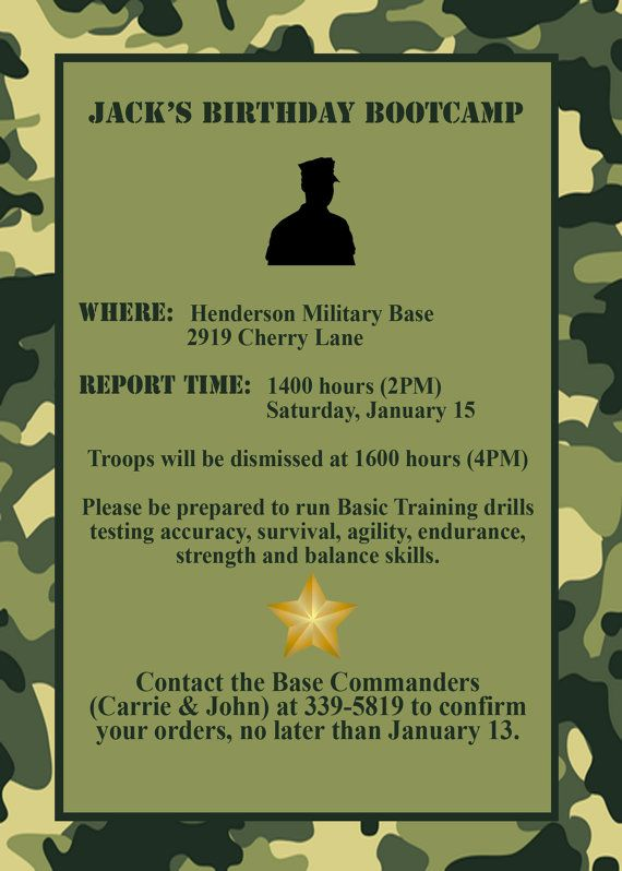 Captivating Army Birthday Invitations Design To Create Your Own