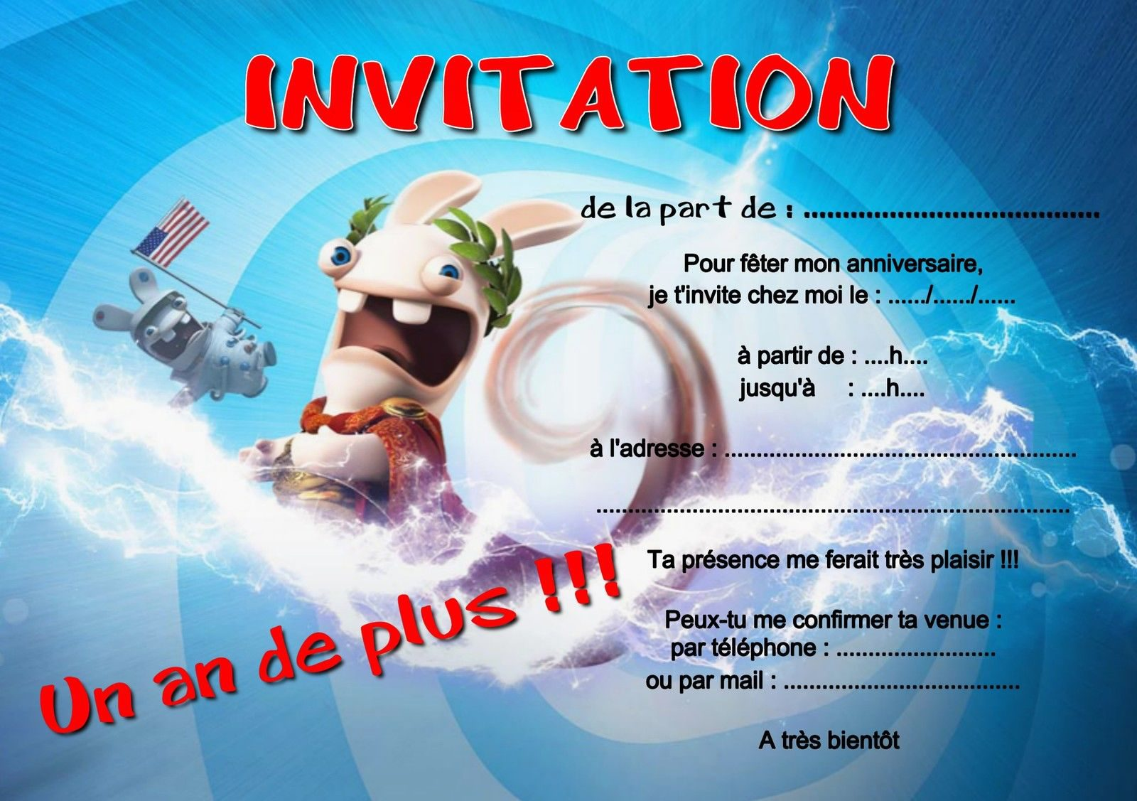 Carte D'invitation Anniversaire Piscine