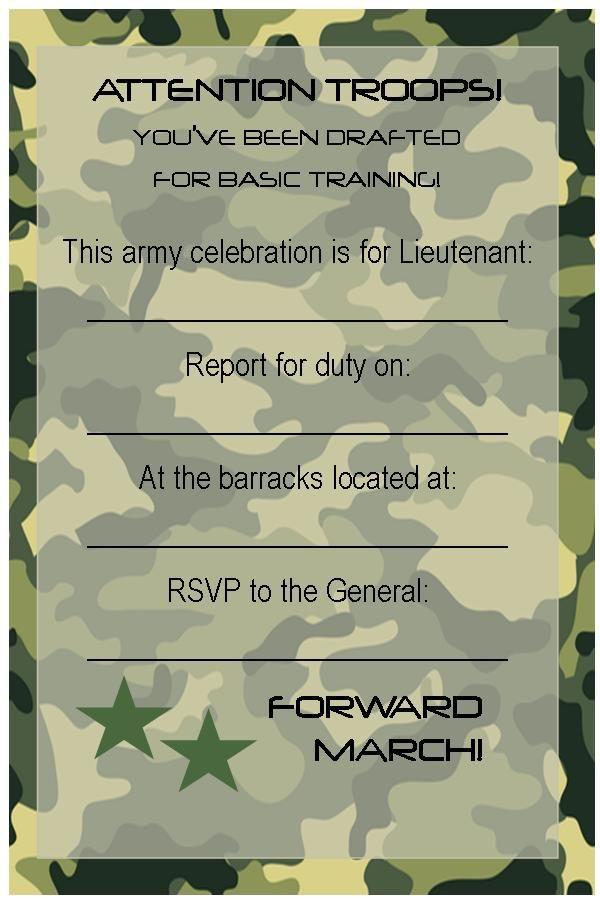 Invitation  Military Invitation Template