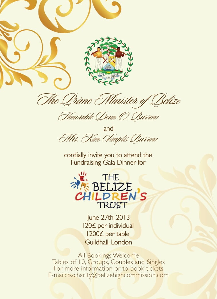 Village View Post  Belize Children's Trust Charity Gala In London