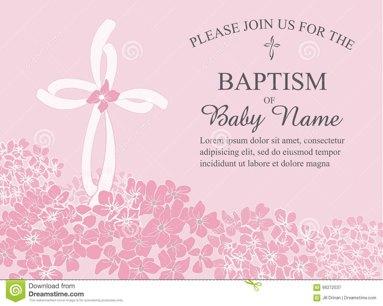 Christening, Baptism, Communion, Or Confirmation Invitation