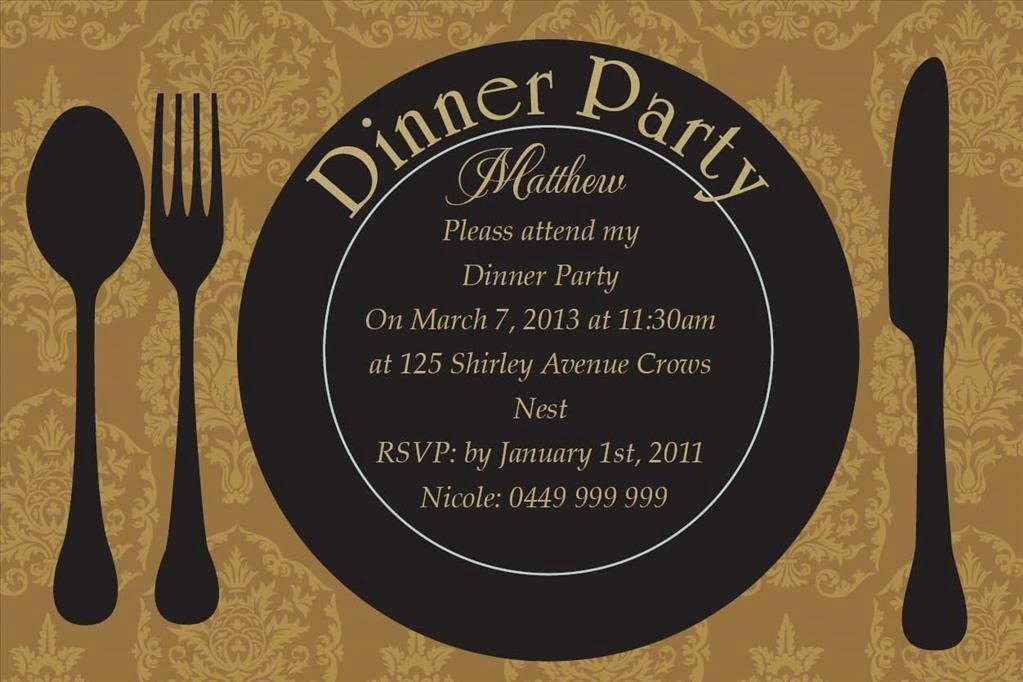 Invitation Ideas  Dinner Party Invitation Template