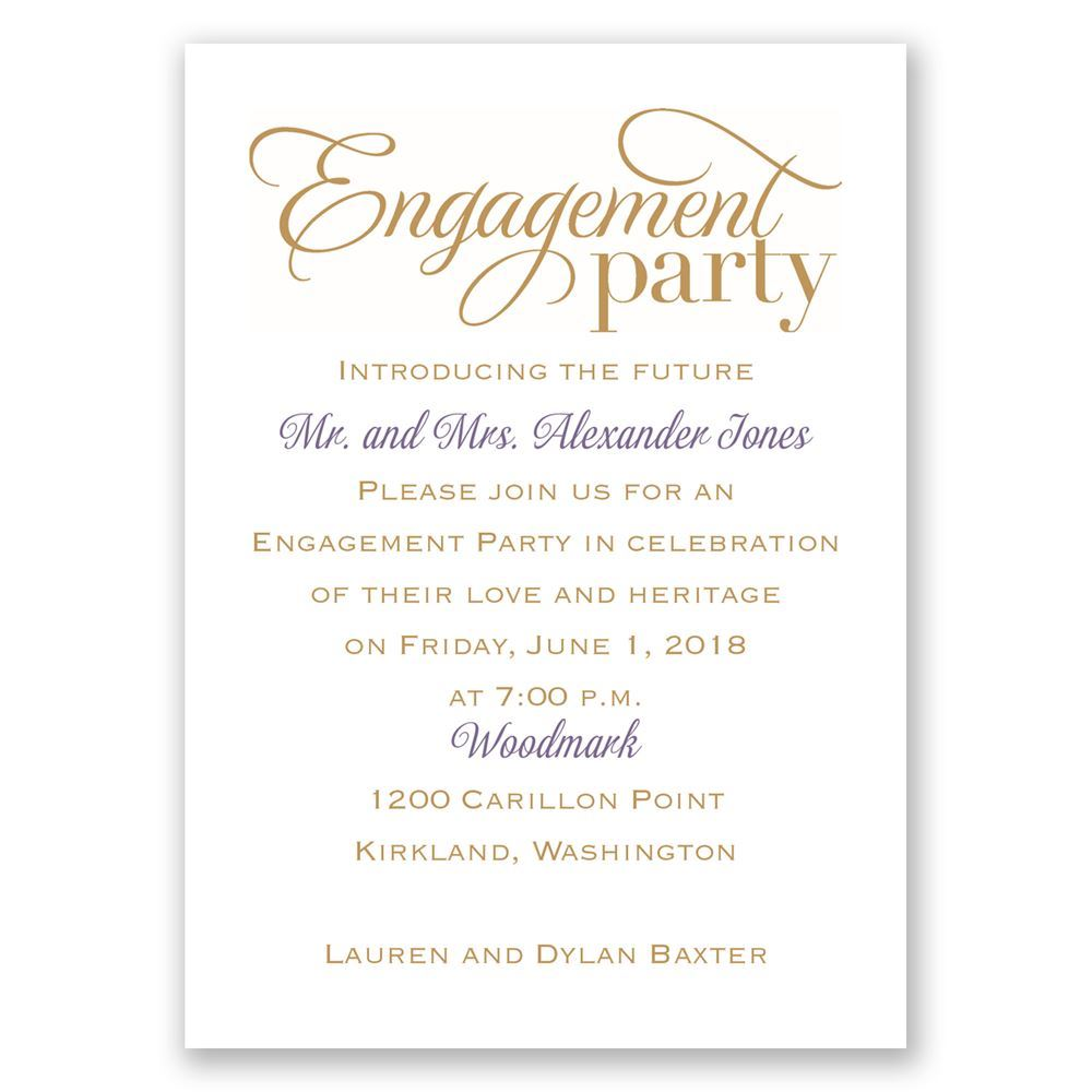 Vintage Engagement Party Invitations Luxury Engagement Party
