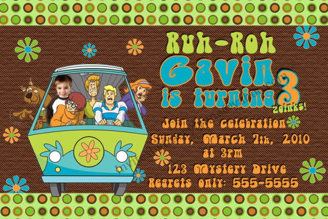 Ebayscooby Vintage Free Scooby Doo Invitation Template