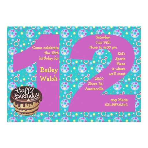 Invitation Ideas  12 Year Old Birthday Invitations That's Free