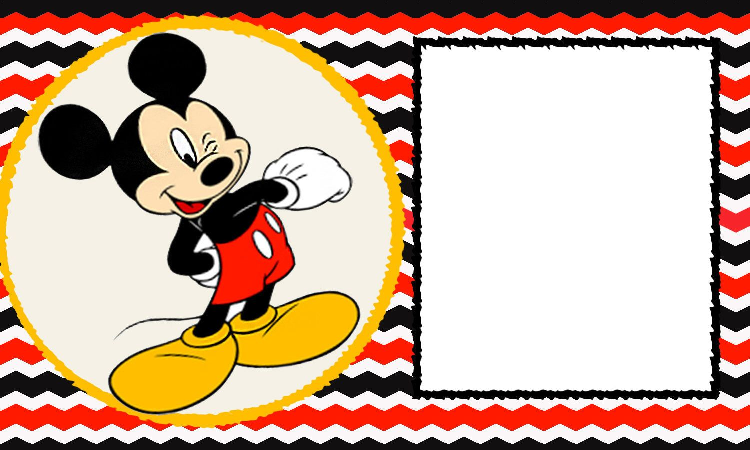 Printable Minnie Mouse Party Invitation Template Vintage Mickey