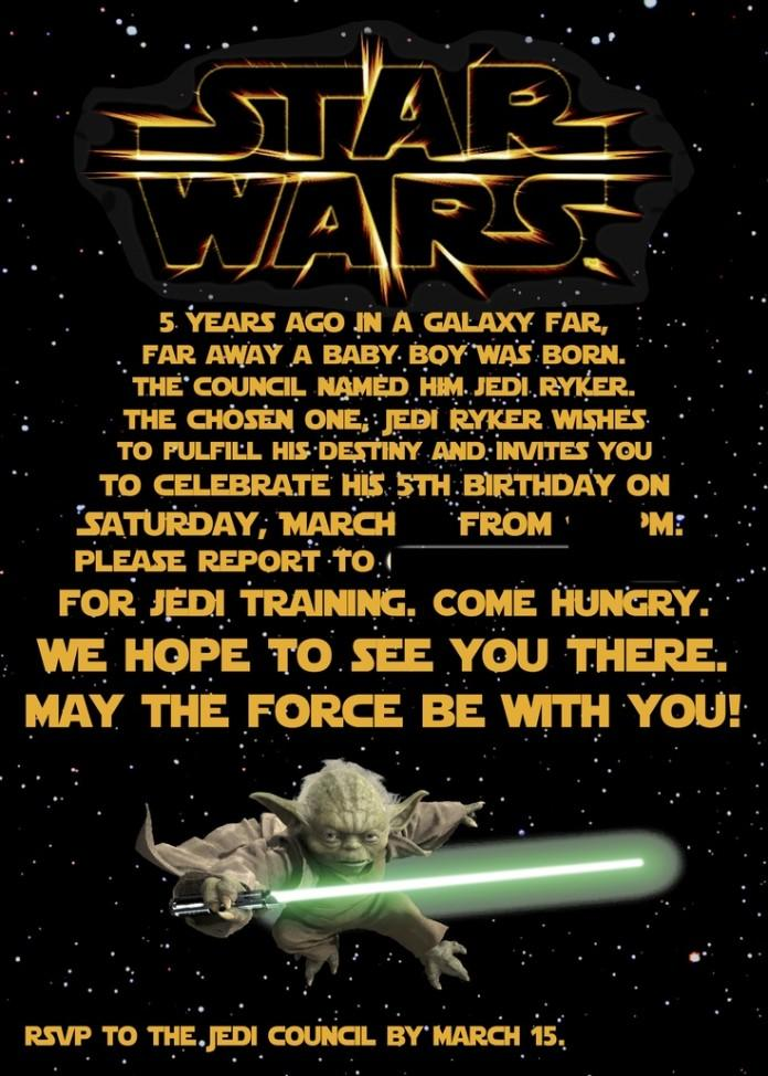 Invitation Ideas  Star Wars Birthday Invitation Template Free