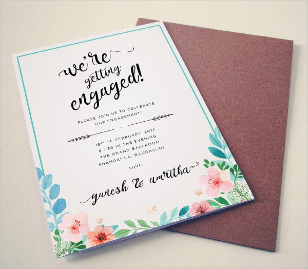 Engagement Invites Templates Free – Lalettre Greeting With Free