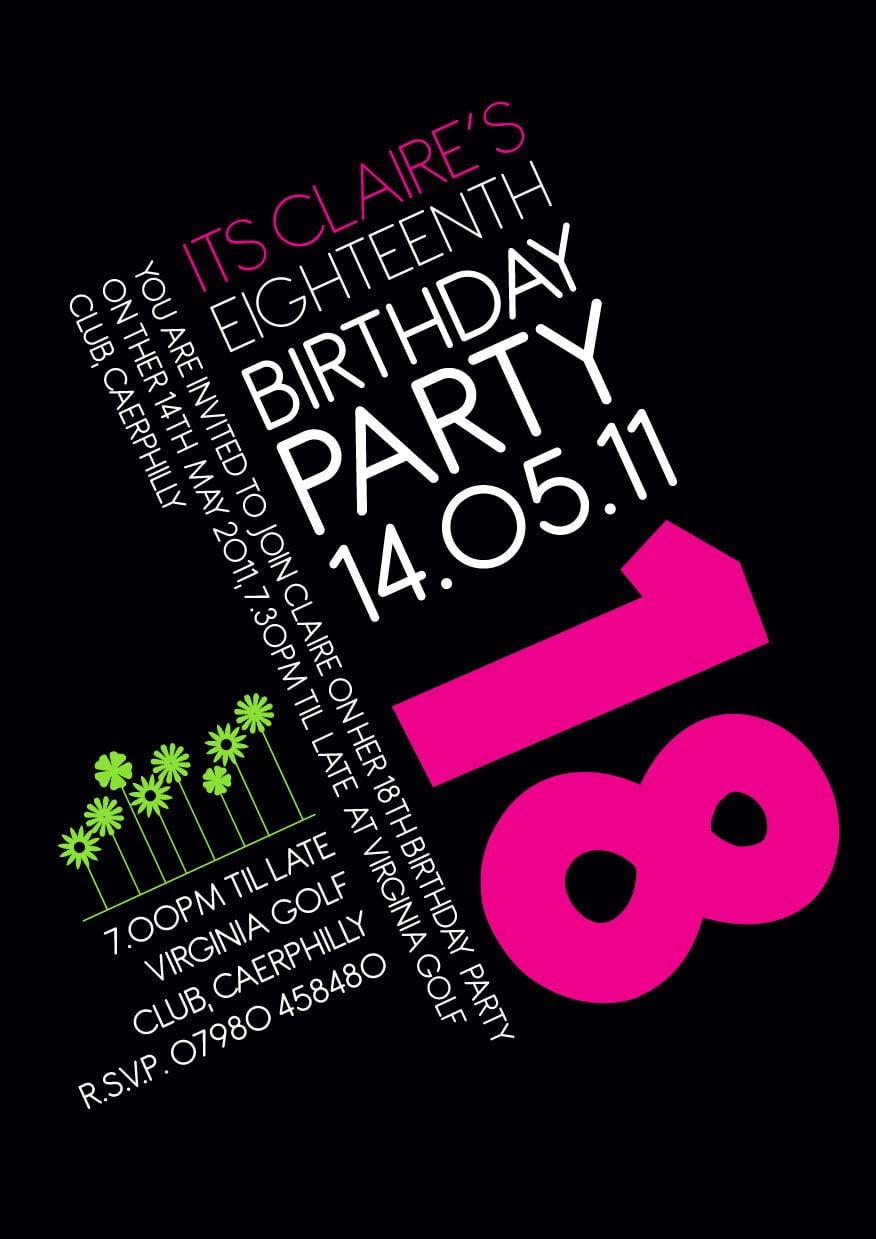 18th Birthday Invitation Idea