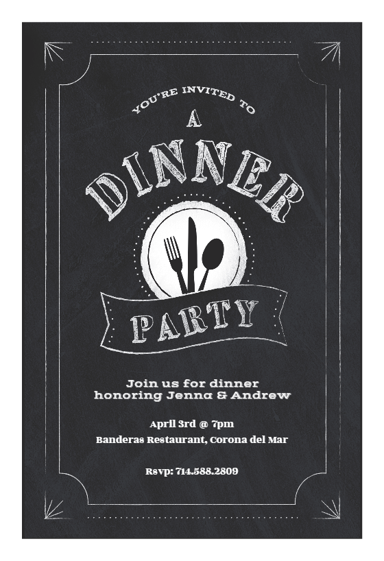 Template  Dinner Party Invitation Template