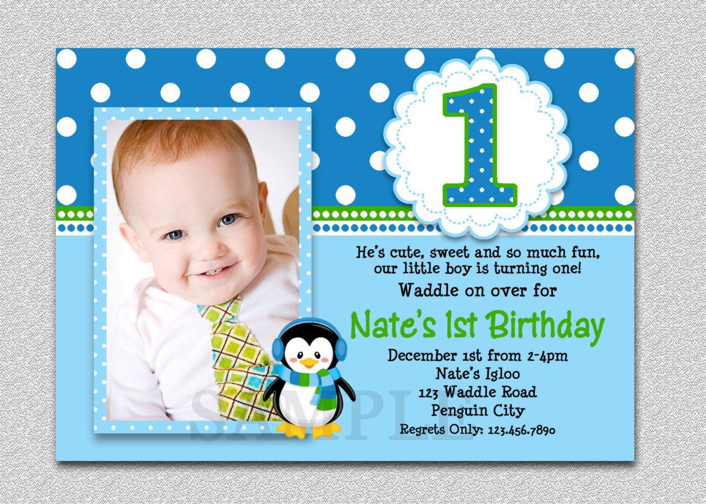 Free First Birthday Invitation Template
