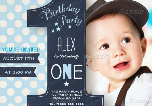 Invitation Ideas  1st Birthday Invitation Template Free Download
