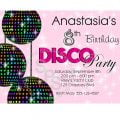 Disco Party Invitations Free Printables