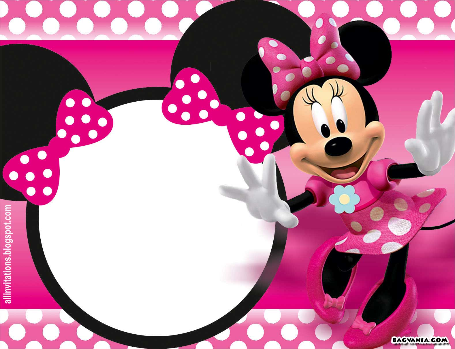 Minnie Mouse Invitations Template