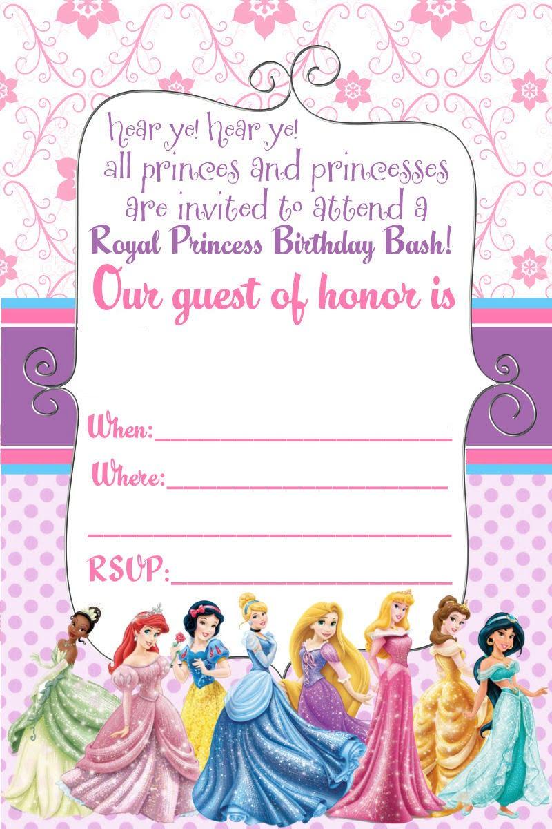 Free Printable Disney Princess Invitation Purple Trend Create Free