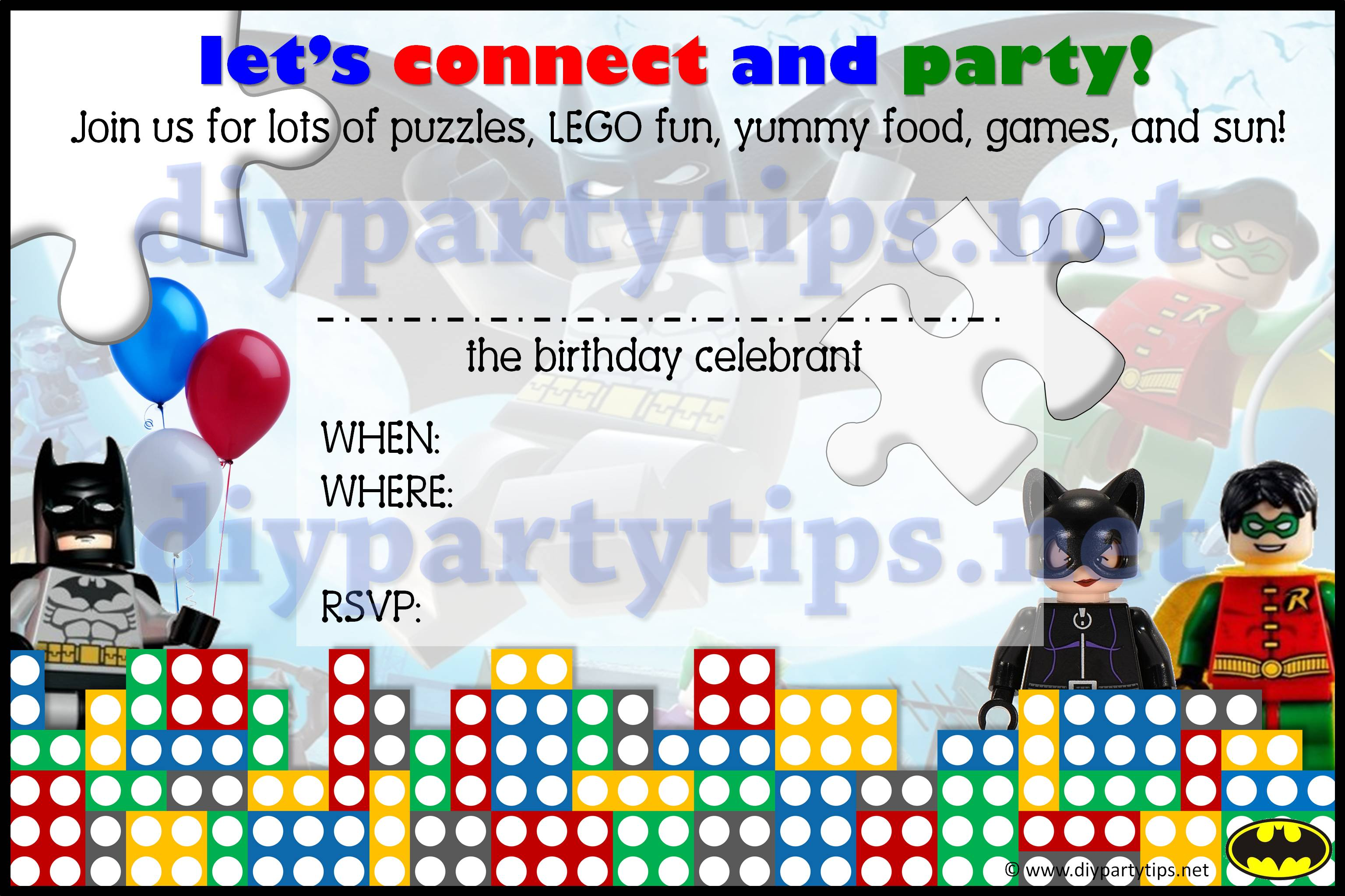 Free Printable Lego Party Fresh Lego Party Invitations Template