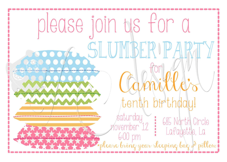 Free Printable Slumber Party Invitations Trend Free Printable