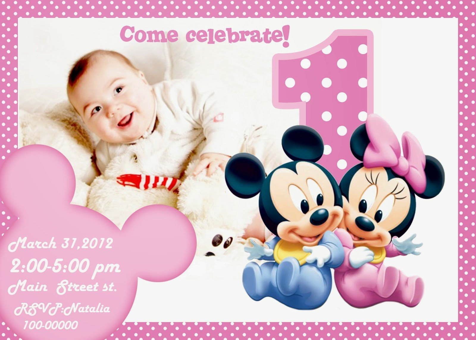 Free Printable St Birthday Invitations Templates Free St Birthday